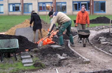 De Groente- en Beleeftuin bij de Hooghe Camp vordert